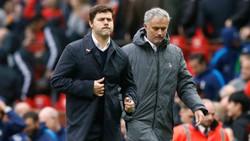 HLV Mauricio Pochettino (trái) thay Jose Mourinho liệu chỉ là tin đồn? Ảnh: Getty Images