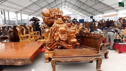 Khai mạc Hội chợ Đồ gỗ  và trang trí nội thất Việt Nam