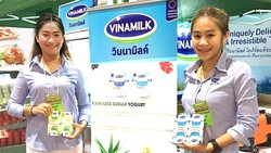Sản phẩm sữa Vinamilk bày bán tại thị trường Thái Lan