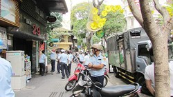 Lực lượng trật tự đô thị đang làm nhiệm vụ