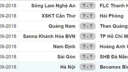 Lịch thi đấu mới của vòng 24 Nuti Cafe V.League 2018