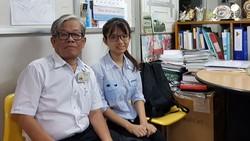 Bác sĩ Phan Thanh Hải và sinh viên Nguyễn Thị Quỳnh Trang