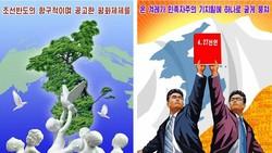 Áp phích cổ động cho quan hệ liên Triều đang thay thế nhiều áp phích chống Mỹ ở Bình Nhưỡng