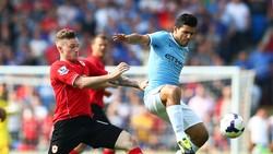 Sergio Aguero (trái) sẽ giúp Manchester City tìm lại hương vị chiến thắng