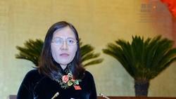 Chủ nhiệm Ủy ban Tư pháp Lê Thị Nga vừa trình bày trước Quốc hội Báo cáo thẩm tra về công tác phòng, chống tham nhũng