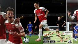 Arsenal - Leicester 3-1: Oezil gỡ hòa, Aubameyang lập cú đúp trong 3 phút