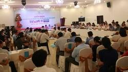 Quang cảnh Diễn đàn thúc đẩy đầu tư vào nông nghiệp tỉnh Bến Tre. Ảnh: HÀM LUÔNG