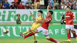 Than Quảng Ninh giành được 1 điểm quý giá trên sân Thiên Trường. Ảnh: MINH HOÀNG