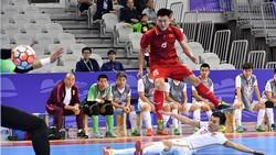 Đội tuyển futsal Việt Nam trong cuộc so tài cùng đội tuyển Trung Quốc ở giải năm ngoái