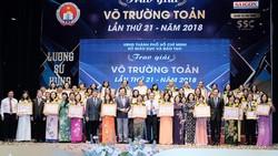 50 nhà giáo tiêu biểu của TPHCM nhận Giải thưởng Võ Trường Toản năm 2018. Ảnh: HOÀNG HÙNG