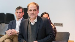 Ông Sergio Louro, Giám đốc ngành hàng di động của MediaMarkt phát biểu tại Lễ ra mắt thương hiệu và sản phẩm Vsmart tại Tây Ban Nha ngày 20-3