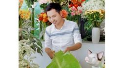 Độc đáo gói hoa bằng lá chuối