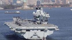 Tàu HMS Nữ hoàng Elizabeth. Ảnh: Daily Telegraph