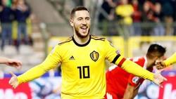 Eden Hazard tỏa sáng giúp tuyển Bỉ giành chiến thắng khởi đầu. Ảnh: Getty Images