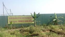 Khu đất chưa được đền bù nhưng chủ đầu tư đã cho thuê
