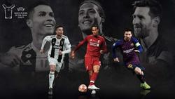 Messi, Ronaldo và Van Dijk tranh giành giải Cầu thủ xuất sắc nhất Champions League