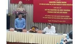 Bí thư Thành ủy TPHCM Nguyễn Thiện Nhân làm việc về cải cách hành chính tại Sở TNMT