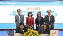 Đại diện 2 đơn vị, ông Hà Văn Trung – Phó Tổng giám đốc kiêm Giám đốc khối Tài Chính, Giám đốc dự án ALM của Sacombank và bà Đinh Thị Hồng Hạnh – Phó Tổng giám đốc PwC Việt Nam ký kết hợp đồng khởi động dự án ALM.