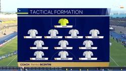 Đội hình Curacao chỉ có 3 thay đổi so với trận đấu với tuyển Việt Nam