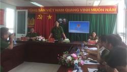 Thượng tá Huỳnh Quang Tâm, Trưởng Phòng PC07 gặp gỡ báo chí