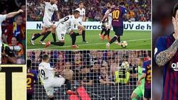 Barcelona - Valencia 1-2: Gameiro, Rodrigo tỏa sáng, Messi ghi bàn nhưng Barca thành cựu vương