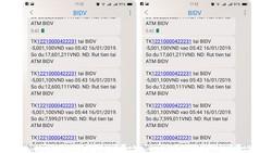 Tin nhắn rút tiền được gửi về điện thoại của khách hàng