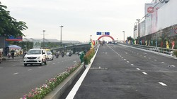 Thông xe, đưa vào sử dụng toàn bộ cầu vượt thép vòng xoay Nguyễn Kiệm