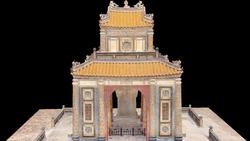 Một phần Lăng Tự Đức được mô phỏng 3D