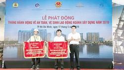 Cty CP Tập đoàn XD Hòa Bình phối hợp tổ chức phát động tháng hành động về ATVSLĐ ngành xây dựng