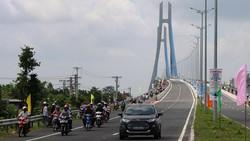 Cầu Vàm Cống thông xe, tạo động lực quan trọng cho Đồng Tháp bứt phá