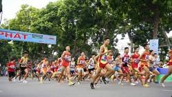 giải chạy báo Hà Nội Mới luôn thu hút đông đảo người tham dự. Nguồn: BTC