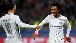 Bảng C: Qarabag FK - Chelsea 0-4: Willian lập cú đúp