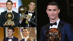 Ronaldo lần thứ 5 nhận Quả bóng vàng, san bằng kỷ lục của Messi