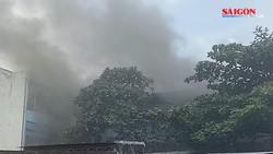 Cháy ở trường THCS - THPT Nhân Văn, quận Tân Phú