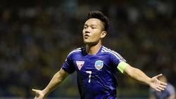 Đinh Thanh Trung, chân sút chủ lực của đội Quảng Nam. Ảnh: DŨNG PHƯƠNG