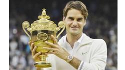 Roger Federer với danh hiệu Wimbledon thứ 8