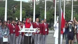 Lễ thượng cờ của đoàn Việt Nam tại Malaysia
