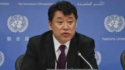 Phó đại sứ Triều Tiên tại Liên hiệp quốc (LHQ) Kim In-ryong     Ảnh: AP.