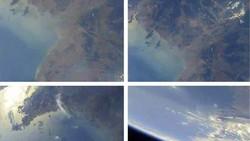 Hình ảnh Trái đất chụp từ không gian Triều Tiên công bố ngày 22-5-2017.