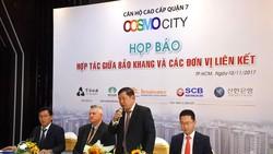 Ô.Bùi Anh Dũng- GD SCB Bến Thành phát biểu trong buổi họp báo