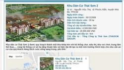 Dự án khu dân cư Thái Sơn 2 công bố sẽ hoàn thành vào cuối năm 2009 nhưng đến nay vẫn còn nằm trên giấy