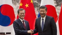 Tổng thống Hàn Quốc Moon Jae-in đã có cuộc hội đàm quan trọng với Chủ tịch Trung Quốc Tập Cận Bình ở Bắc Kinh. Nguồn: TTXVN