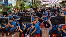 """1.200 thí sinh của hơn 120 trường nô nức tham dự cuộc thi """"Cùng non sông cất cánh"""" 2017"""