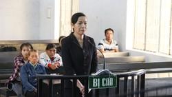 Bị cáo Trương Thị Hoa tại phiên tòa