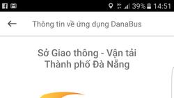 Giao diện ứng dụng DanaBus