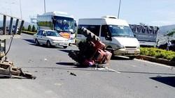 Chiếc máy cày chạy vào cao tốc gây tai nạn
