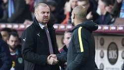 Sean Dyche (trái) tin rằng đối đầu Pep Guardiola lần này sẽ khó hơn. Ảnh: Getty Images