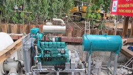 Chấp thuận thuê máy bơm chống ngập đường Nguyễn Hữu Cảnh