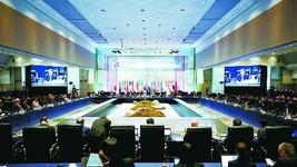 16日,為期兩天的二十國集團(G20)能源與環境部長級會議繼續舉行。 (圖源:CFP)