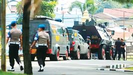 An ninh được thắt chặt tại khu vực xảy ra vụ tấn công nhằm vào cảnh sát TP Medan, Indonesia